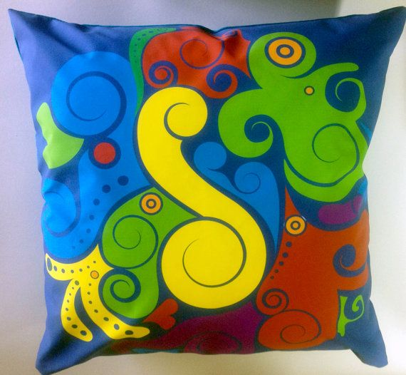 abstract throw pillow by justthingsz on Etsy, $15.60