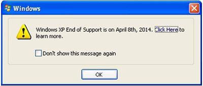 Notificare Windows Update pentru toți utilizatorii Windows XP