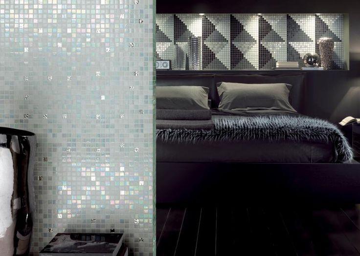 CROMIE & MOTIVI | Mosaico + #glassmosaic #mix #cromie #cameradaletto #motivigeometrici #newclassic #decoration #design