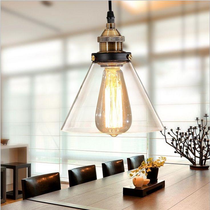 50.00$  Buy here - Nordic American minimalist industrial style LOFT Bar Cafe hotel living room chandelier,glass funnel copper head lights lamp  #buyininternet