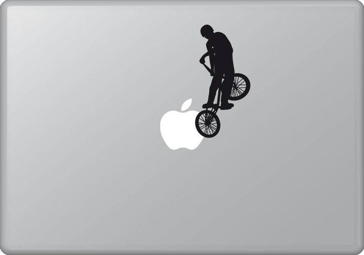 Biker 2 | MacBook sticker | #pasteit #sticker #stickers #macbook #apple #blackandwhite #art #drawing #custom #customize #diy #decoration #illustration #design #sport #sports #extremesport #extremesports #freestyle #freestyler #bike #biker