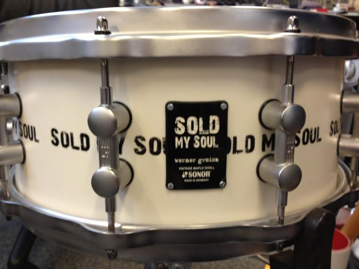 "werner groisz custom snare 13"" mod. SOLD my SOUL white"