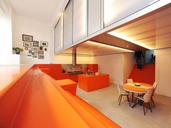 Orange Kitchen Interior from Best Luxury House Design Ideas with Greeen Home Innovation in Rotterdam 600x450 Best Luxury House Design Ideas with Green Home Innovation in Rotterdam