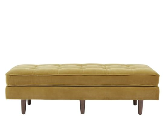 Prime Made Gold Cotton Velvet Ottoman Stefanie En Jan In 2019 Gmtry Best Dining Table And Chair Ideas Images Gmtryco