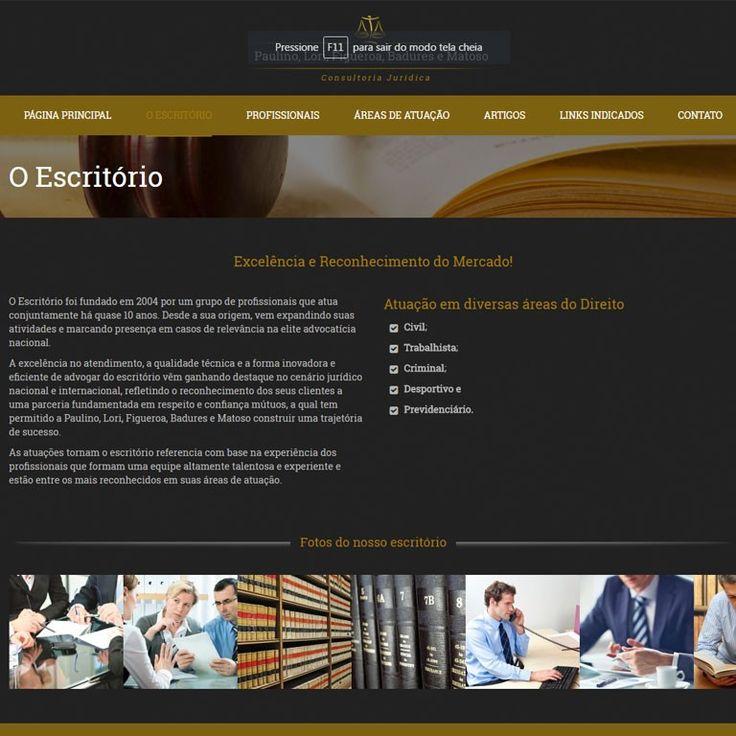 Criação de Sites - Assessoria Jurídica - Paulino, Lori, Figueroa, Badures e Matoso - FIRE MÍDIA    http://firemidia.com.br/portfolios/criacao-de-sites-assessoria-juridica-paulino-lori-figueroa-badures-e-matoso-fire-midia/