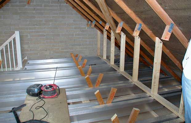 Extendable TeleBeams, laid alongside existing floor joists, reduce labour and material costs
