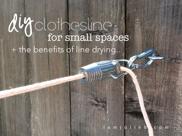 DIY CLOTHESLINE FOR SMALL SPACES