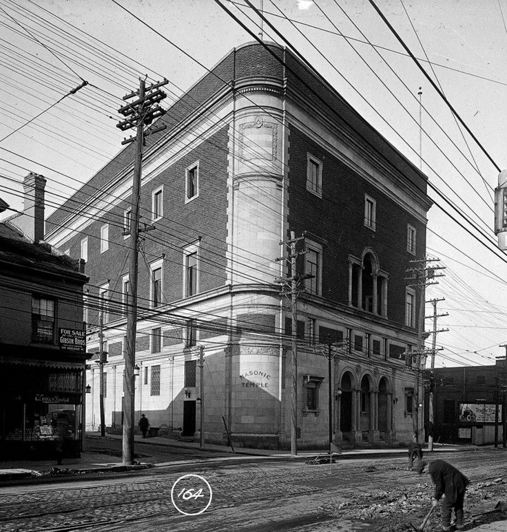 Masonic Temple, Yonge and Davenport, 1919    Now the home of MTV Canada and CTV