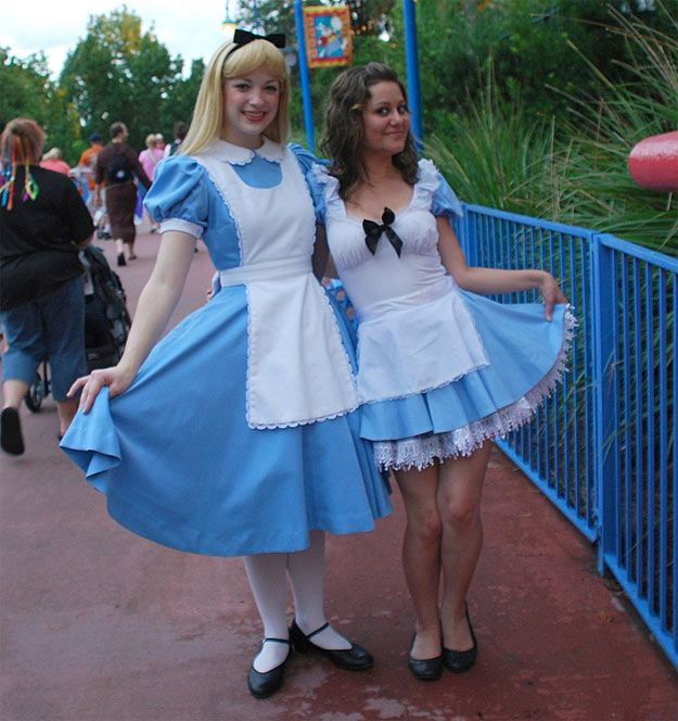 Long blue dress costume ideas