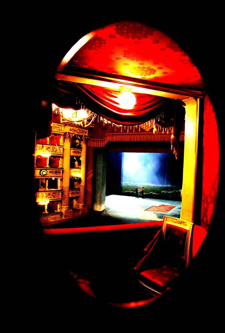 A peek of the Theatre during a rehearsal