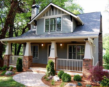 <ul><li>This classic Craftsman cottage is not only beautiful to look at but it is functional and cost efficient as well.</li><li>A simple roofline and rectangular foundation shape keeps costs down so you can put the savings into things like energy-efficient appliances and extra insulation.</li><li>The smaller but well functioning living space means less energy is needed over the life of the home.</li><li>An open floor plan and fle...