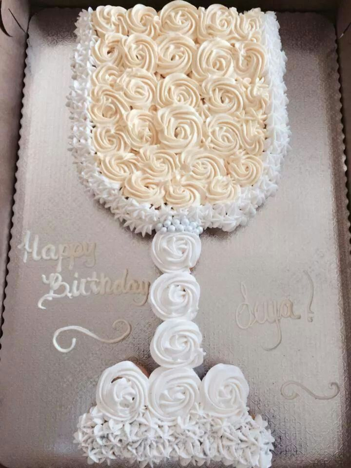 Wine glass Cupcake cake