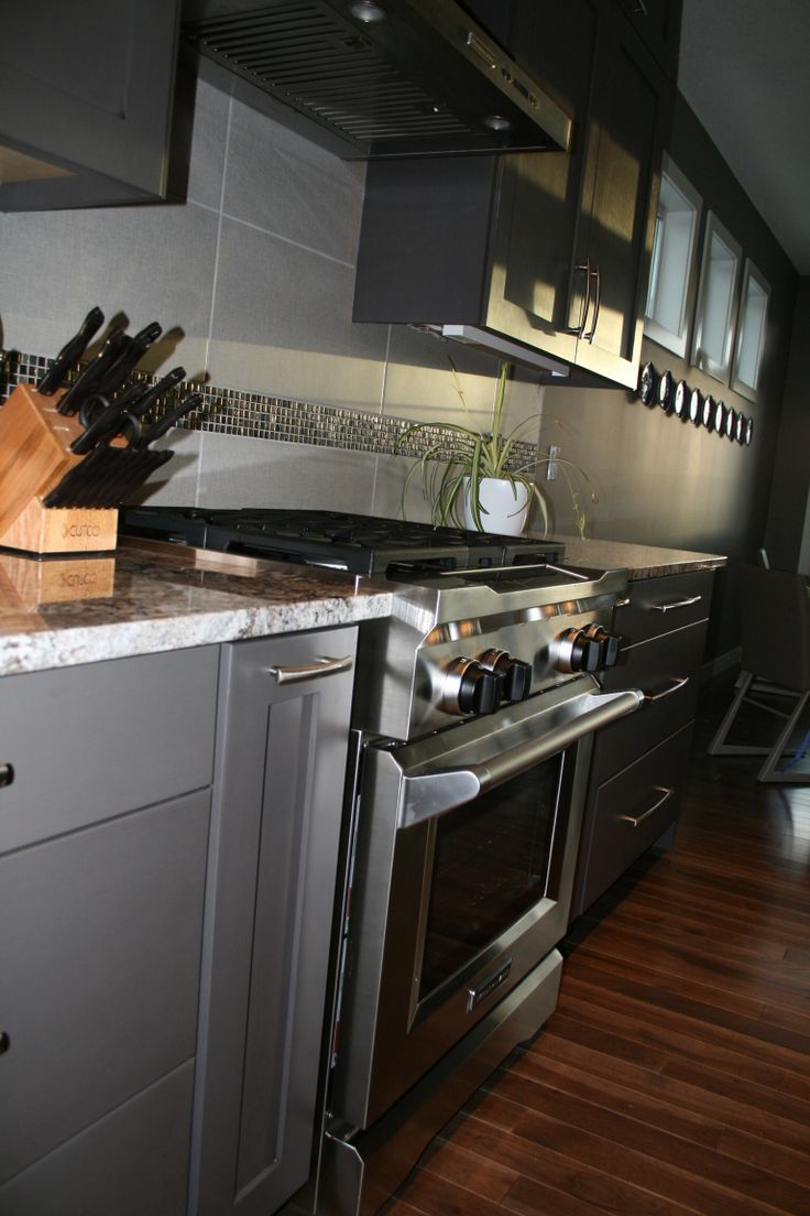 Gray Kitchen Cabinets  Granite And Cabinets From Westridge Cabinets Calgary  Alberta
