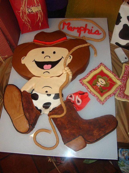 Cowboy Baby Shower Boy Babyshower Cake Theme