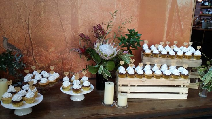 Congratulations Shelbi and Francis. 66 chocolate mud cupcakes and 66 white chocolate mud cupcakes. — at Zigfrids.