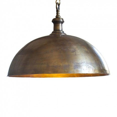 Vintage Pendant Ceiling Light 1800s Style - Antique Brass