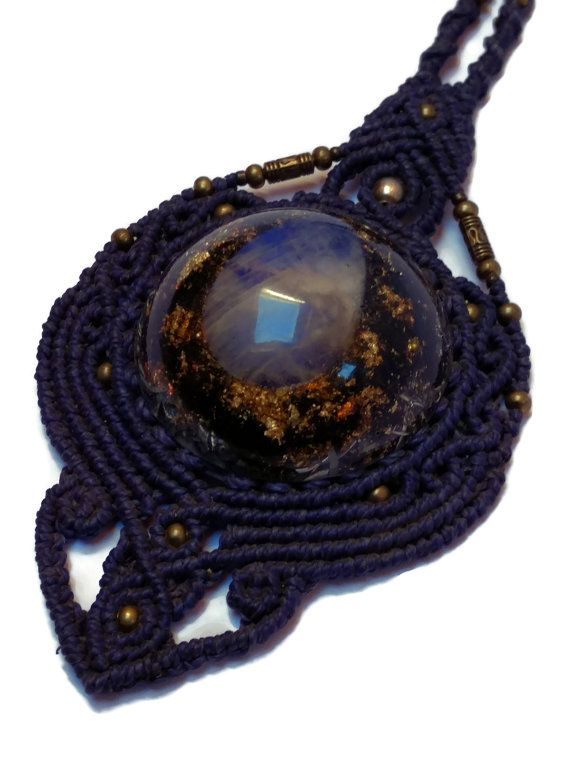 NEW Macrame Orgone Orgonite Necklace with by OrgonizeYourLife