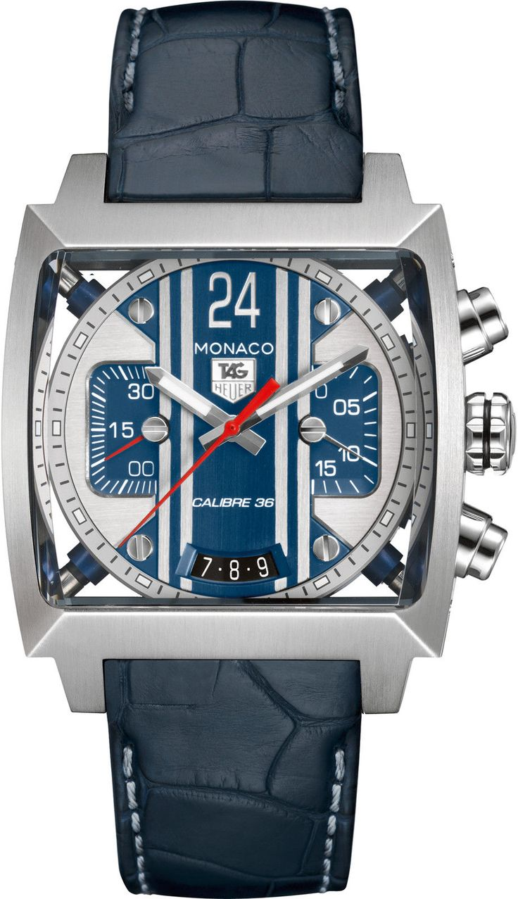 TAG HEUER Monaco 24 Calibre 36 Automatic Chronograph Mens Watch Click to find out more -  http://menswomenswatches.com/tag-heuer-monaco-24-calibre-36-automatic-chronograph-mens-watch/