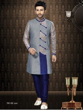 Stylish Look Semi Sherwani