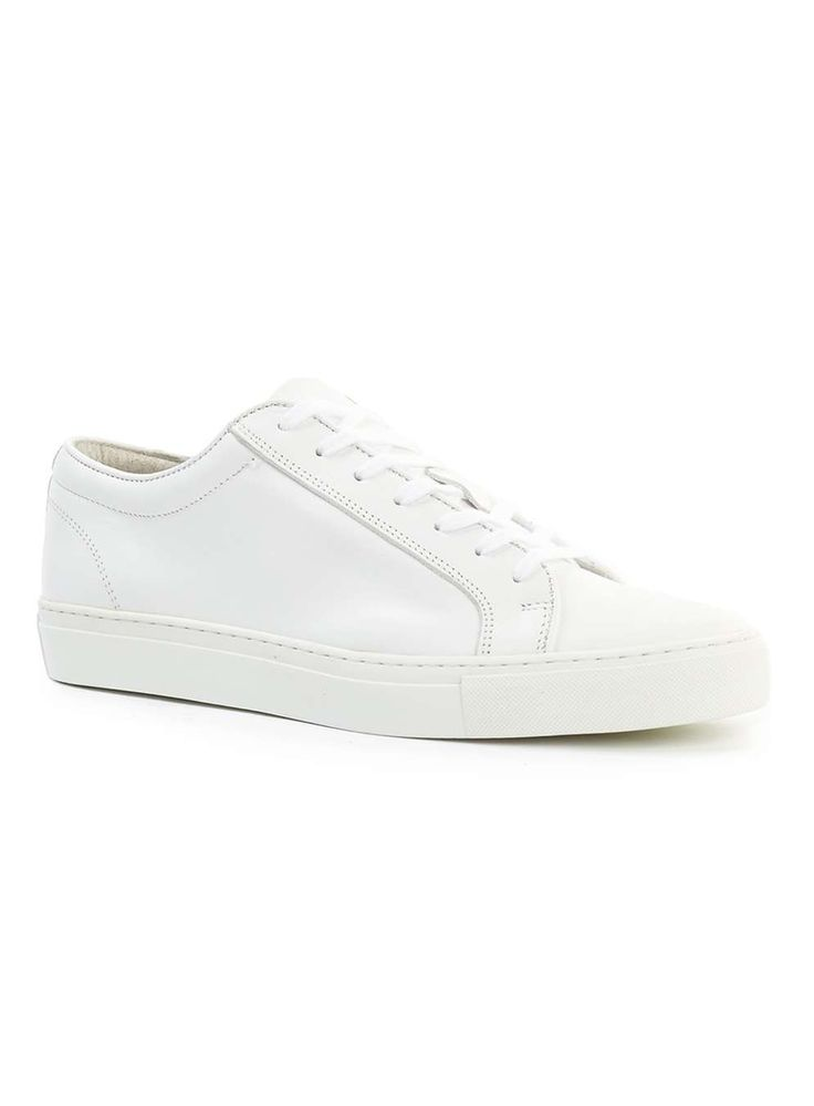 White Leather Trainers £60