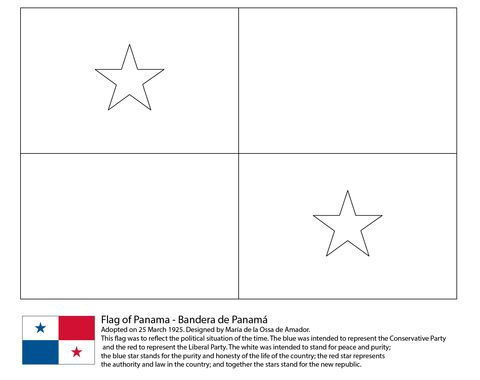 flag of panama coloring page flag coloring pages