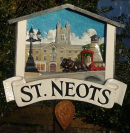 St Neots lies on the River Great Ouse 15 miles (24 km) west of Cambridge. There is also a town of St. Neot in Cornwall. St Neot, the Patron Saint of Fish, was a relative of King Alfred the Great and was said to have been only four ft tall.