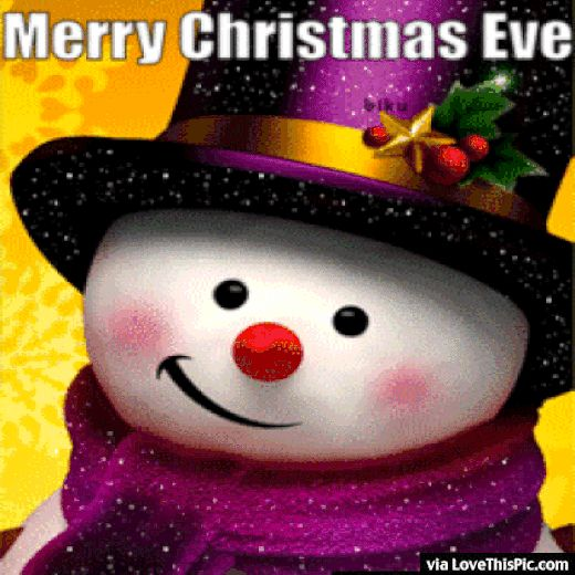 Merry Christmas Eve Animated Gif Quote