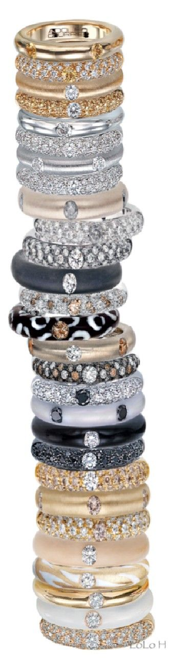 Stacking ring sets by Adolfo Courrier