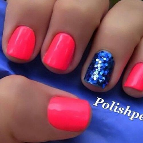 I want that blue! This would be cute with red nails for 4th of July