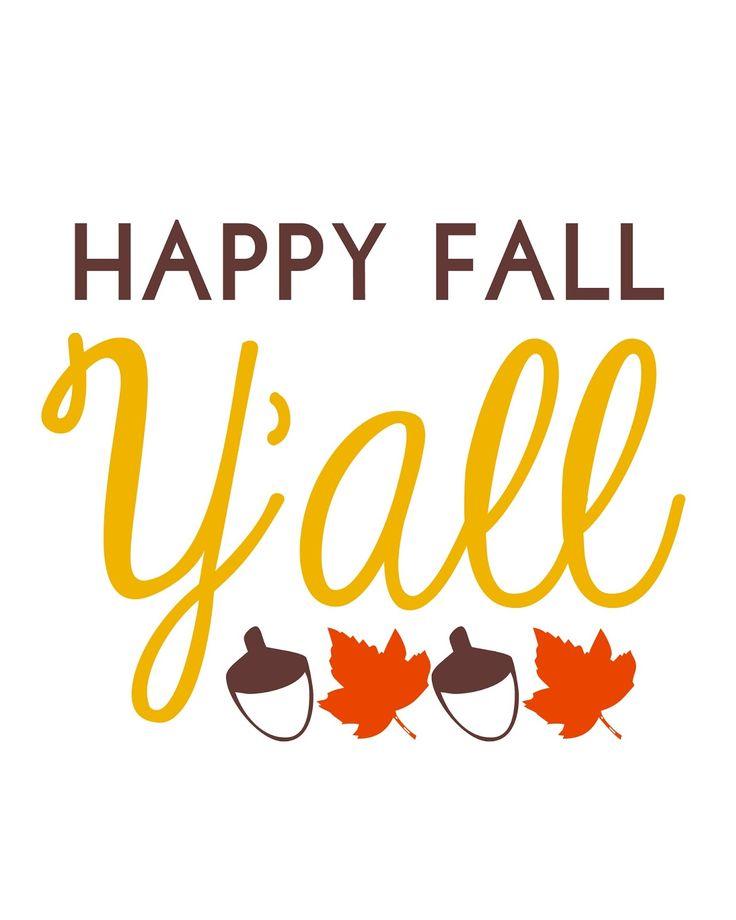 Happy Fall Y'all! Free Fall printables on the blog! #printable #freebie #fall