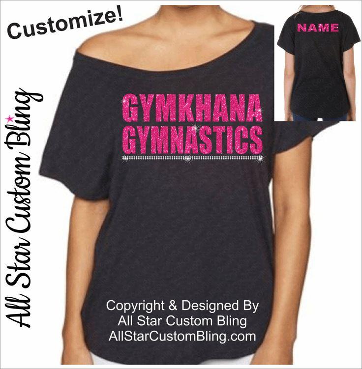 Custom Gymnastics Team Off Shoulder Dolman Shirt, Gymnastics Tee, Mom Gymnastics Tshirt, Football Mom Tshirt, Football Mom Bling Shirt by AllStarCustomBling on Etsy