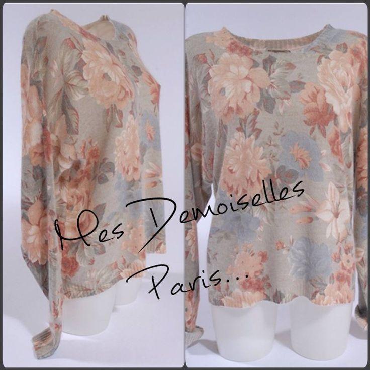 Le jolie #pull fleurie de #MesDemoiselles est en #solde @Rosalie-Shop ... Pour le shopper, rdv ici: https://rosalie-shop.com/mes-demoiselles/pull-fleuri-large.html #Rosalieshop votre #eshop #Mode et #tendance