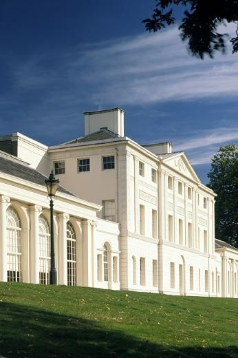 Kenwood House is a former stately home in Hampstead, London. The original house dates from the early 17th century. It is surrounded by landscaped gardens in the heart of the heath, overlooking a sloping lawn that leads down to a tranquil lake.