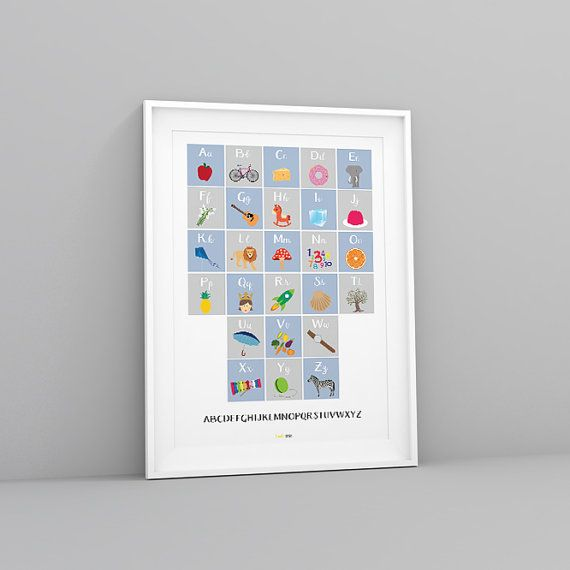 ALPHASTORY Poster  A colourful, quirky and educational print featuring…