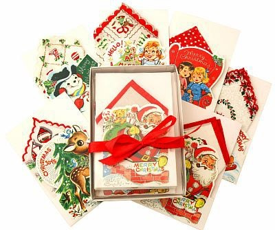 Merry Christmas Hankie Cards (set of 6)