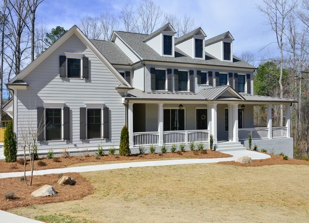 Sherwin Williams Mindful Gray With Aesthetic White Trim And Black Fox Shutters Home On