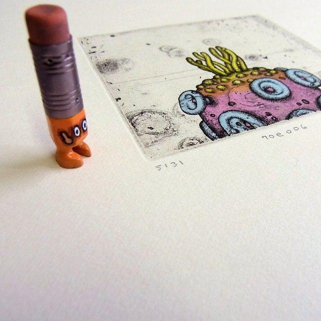 ✏#art #acrylic #artwork #illustration #etsy #etching #printmaking #drawing #creative #paper #craftsposure #miniature #miniprint #printmaker #intaglio #tiny #figure #doll #tinydoll #wood #woodcarving #pencil #pencilman #creative #stationery #handmade #eraser #plants