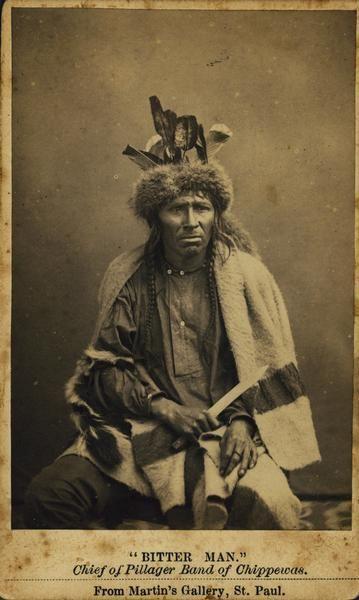 """""""Bitter Man,"""" Chief of Pillager Band of Chippewa (Ojibwa). Martin's Gallery"""