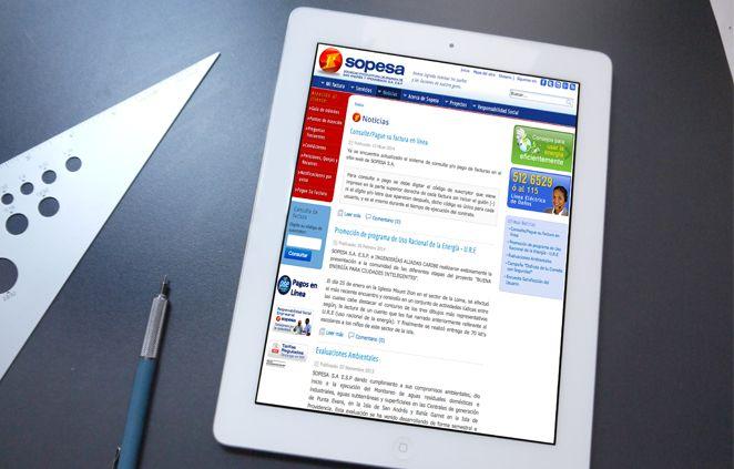 Sitio Web Sopesa desarrollada en Joomla versión 3