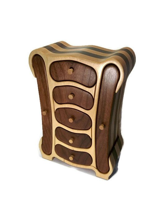 Transformer jewelry box / bandsaw box / wood box /  от RoysBox