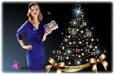В Новогоднюю ночь 2014-2015 Синей Овцы звезды советуют наряды синего цвета. Коллекция «Изящный силуэт» пополнилась новой моделью - синим платьем модного фасона. А какие чудеса творит утягивающая ткань с фигурой! Ни одной лишней складочки, сплошной соблазн. Оцените преимущество утягивающего наряда!