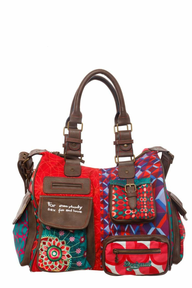 Desigual women's London-Annelise bag. A smaller version of our legendary London bag, with a single, spacious inner compartment and endless pockets on the outside.