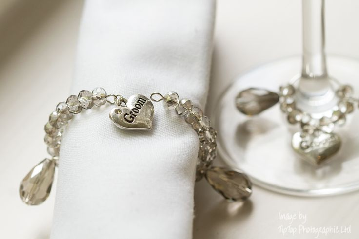 this matching wine glass charm and napkin ring set were made for a photo shot organised by @fairytaledream5  photo courtesy of @TipTopPhotographyLtd