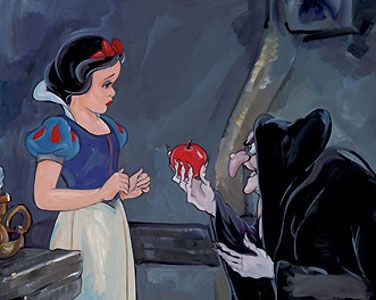 Snow White and the Seven Dwarfs - No Ordinary Apple - Jim Salvati - World-Wide-Art.com - $425.00 #Disney #JimSalvati