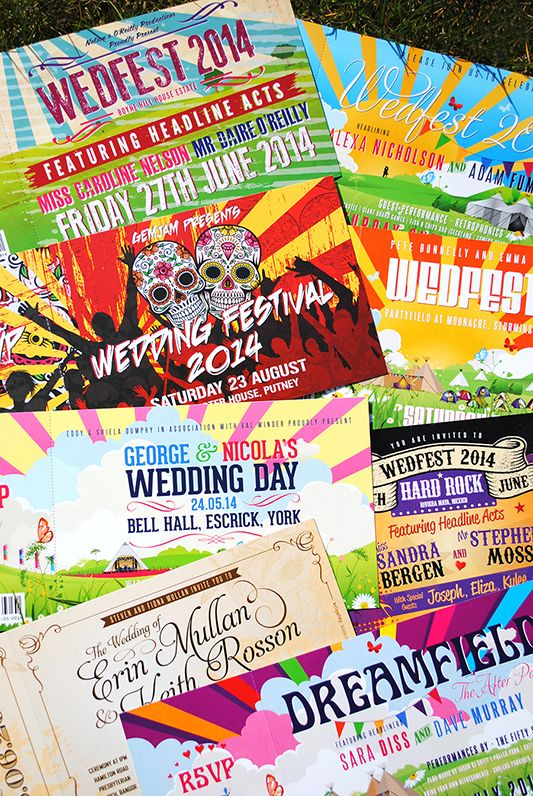 YOU MUST CHECK OUT THIS COLORFUL FESTIVAL WEDDING STATIONERY:   festival themed wedding invites