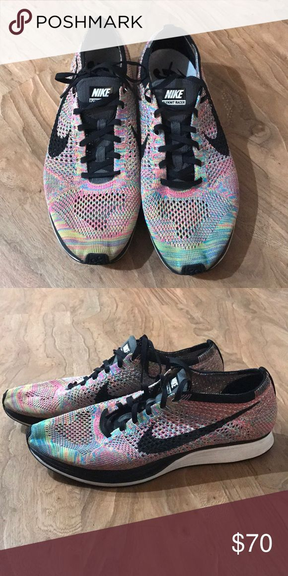 Nike Flyknit Racers Multicolor Worn a couple times, but in very good condition. Nike Shoes Athletic Shoes