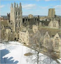 Yale, New Haven, Connecticut. Yale University is an American private Ivy League research university located in New Haven, Connecticut. Founded in 1701 in the Colony of Connecticut, the university is the third-oldest institution of higher education in the United States.  Yale has many distinguished graduates, among them being US Presidents Taft, Ford, both Presidents Bush, and Clinton
