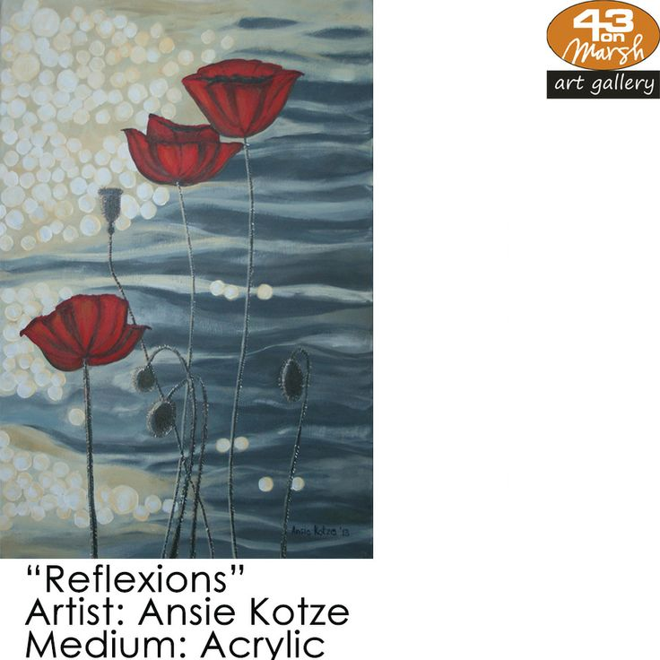 """""""Reflexions""""  Acrylic on canvas by Ansie Kotze Contact 43 on Marsh #ArtGallery should you be interested in a work: 083 390 8000 #art #artist, #painting"""