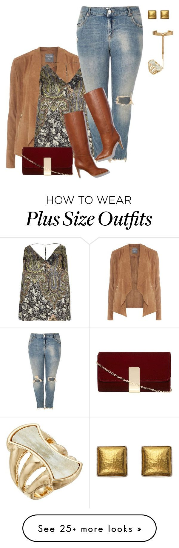 """plus size fall boho chic"" by xtrak on Polyvore featuring Dorothy Perkins, River Island, Pierre Hardy, Eddie Borgo, Robert Lee Morris and Gurhan"