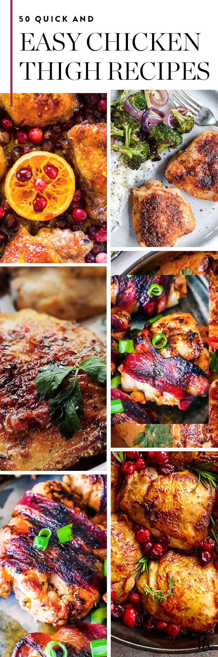 50 Quick and Easy Chicken Thigh Recipes to Whip Up on Weeknights via @PureWow via @PureWow